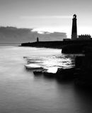 Portland Bill Silhoutte Royalty Free Stock Photo