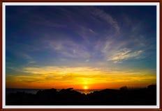Portland Bill Sunset royalty-vrije stock foto's