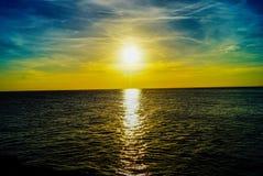 Portland Bill Sunset Yellow photographie stock libre de droits