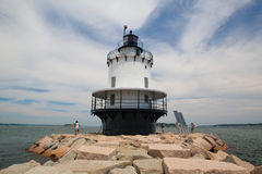 Portland Breakwater Lighthouse at the south Portland Bay, Portla Stock Photography