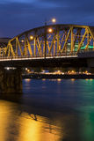 Portland Bridge at Night Royalty Free Stock Images