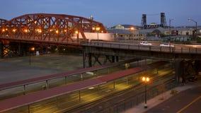 Portland Bridges Traffic Time Lapse stock footage