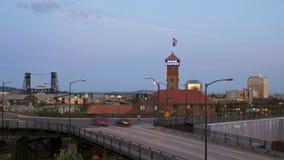 Portland Bridges Traffic Time Lapse stock video footage