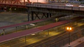Portland Bridges Traffic Time Lapse stock video