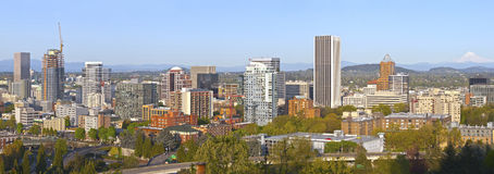 Portland city buildings panorama Oregon. Royalty Free Stock Photography