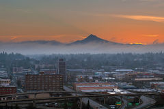 Portland City Eastside at Sunrise Royalty Free Stock Photos