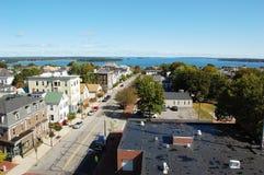 Portland City Skyline, Maine Stock Images