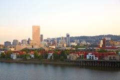 Portland cityscape Stock Photos