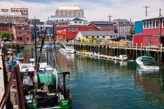 Portland colorida Maine Harbor Fotografía de archivo libre de regalías