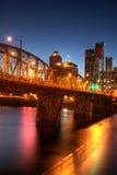 Portland de stad in Stock Foto's