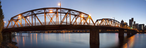 Portland de stad in Royalty-vrije Stock Foto's