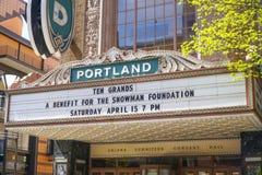 Portland de stad in - Arlene Schnitzer Concert Hall - PORTLAND - OREGON - APRIL 16, 2017 Royalty-vrije Stock Fotografie