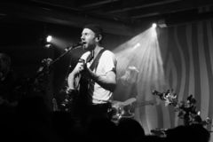 Novo Amor Performance at Doug Fir Portland Oregon stock photos