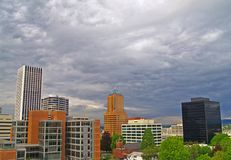 Portland in die Stadt Weitwinkel Stockfoto