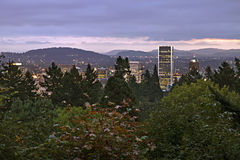 Portland Downtown at Dawn Royalty Free Stock Photos