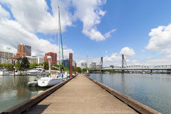 Portland Downtown by the Marina Stock Image
