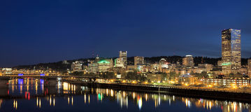 Portland Downtown Skyline at Blue Hour Royalty Free Stock Photo