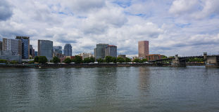 Portland Downtown from Willamette River Stock Photography