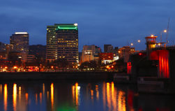 Portland at dusk. Royalty Free Stock Images