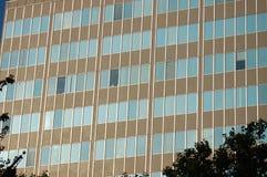 Portland ELLER kontorsbyggnad som inramas med träd royaltyfri foto