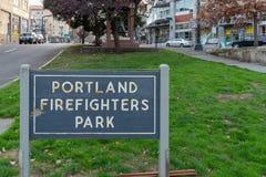 Portland-Feuerwehrmänner parken stockbilder
