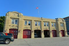 Portland Fire Department in Portland, ME, USA stock photo