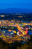 Portland Freeway at Night Royalty Free Stock Photo