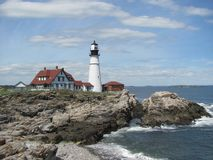 Portland głowy światło - Maine latarnia morska zdjęcie stock