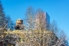 Portland gammal stad i vinter arkivfoto