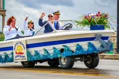 Portland Grand Floral Parade 2017. Portland, Oregon, USA - June 10, 2017: Seattle Seafair Commodores Mini-Float in the Grand Floral Parade, as it stretched Royalty Free Stock Image