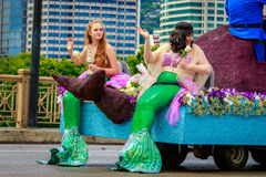 Portland Grand Floral Parade 2017 Stock Images