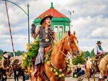 Portland-großartige Blumenparade 2016 Lizenzfreie Stockbilder