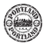 Portland grunge rubber stamp stock illustration