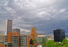 Portland hacia el centro de la ciudad granangular Foto de archivo