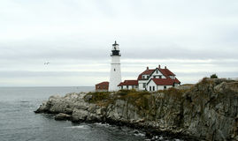 Portland harbor lighthouse Stock Photo