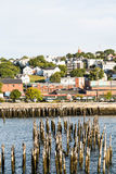 Portland Harbor with Old Posts Stock Image