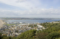 Portland Harbour view from above Royalty Free Stock Image