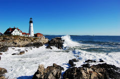 Portland-Hauptleuchtturm, Maine lizenzfreie stockfotos