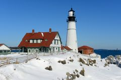 Portland-Hauptleuchtturm, Maine Lizenzfreie Stockfotografie