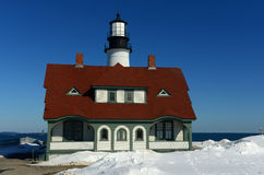 Portland-Hauptleuchtturm, Maine Lizenzfreies Stockfoto