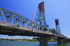 Portland Hawthorne Bridge Royalty Free Stock Photo