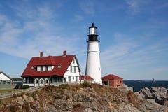 Portland Head Light. Portland, Maine, USA. Landscape view Stock Photo