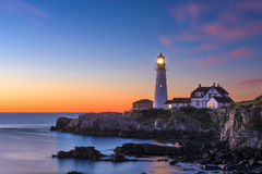 Portland Head Light. In Cape Elizabeth, Maine, USA Royalty Free Stock Photo