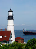 Portland Head Light Guides Ships into Portland Harbor. Stock Photos