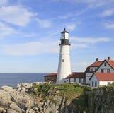 Portland Headlight Lighthouse, Maine. Portland Head Lighthouse, Fort Williams Park, Portland, Maine is one of the oldest lighthouses Stock Photo