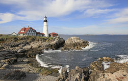 Portland Headlight Lighthouse, Maine. Portland Head Light, Fort Williams Park, Portland, Maine is one of the oldest lighthouses Royalty Free Stock Photography