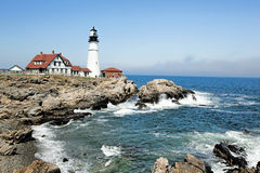 Portland Headlight Lighthouse, Maine. Portland Head Lighthouse, Fort Williams Park, Portland, Maine is one of the oldest lighthouses in continuous use in the royalty free stock photography
