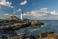 Portland Head Light in the late afternoon Stock Photos
