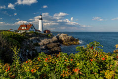 Portland Head Light in the late afternoon Royalty Free Stock Image