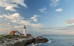 Portland Head Light in the late afternoon Stock Photography